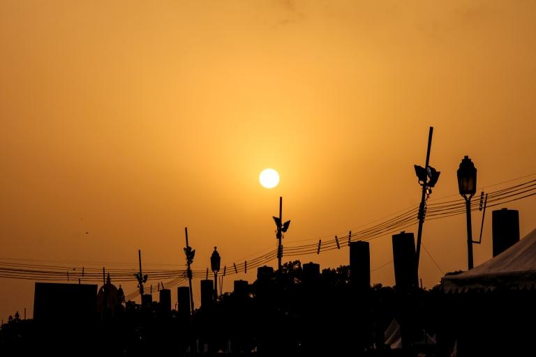 zonsondergang-new-delhi